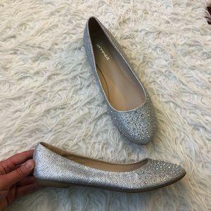 58fa9bc9f Bonnibel Shoes - Bonnibel rhinestone silver wedding flats shoes